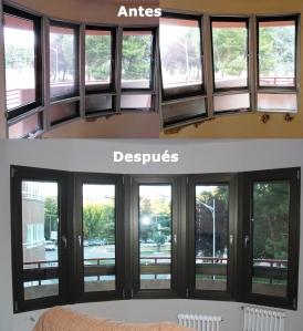 Rehabilitación de ventanal en Curva